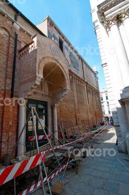 Venice italy unusual road work