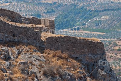 Ruins of ancient fortress.