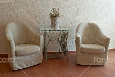 Armchairs in the interior.