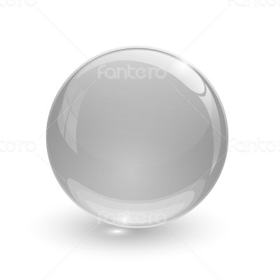 Grey glassy ball