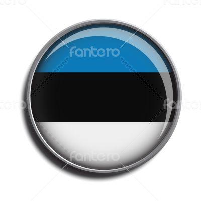 flag icon web button estonia