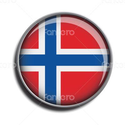 flag icon web button norway