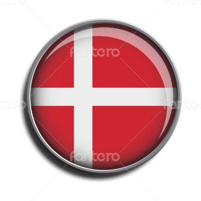 flag icon web button denmark