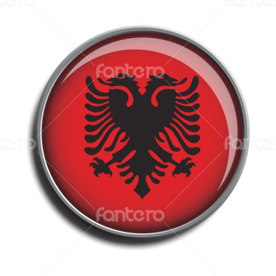 flag icon web button albania