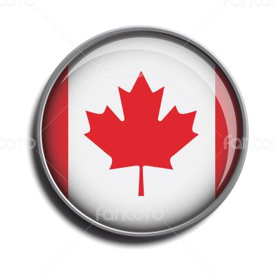 flag icon web button canada