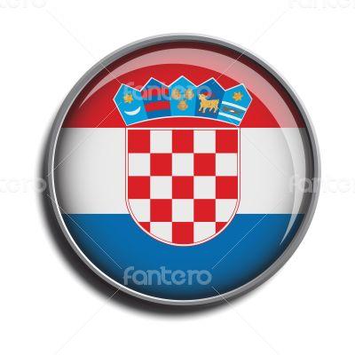 flag icon web button croatia