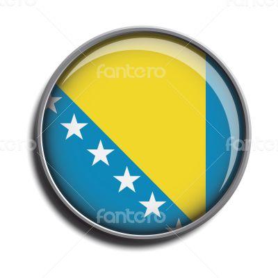 flag icon web button bosnia