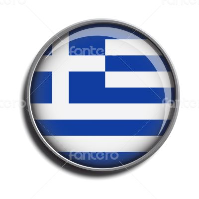 flag icon web button greece