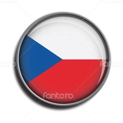 flag icon web button czechia