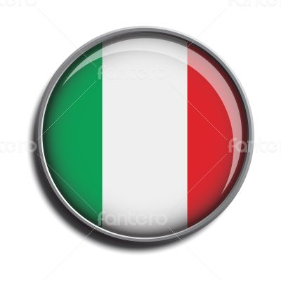 flag icon web button italy