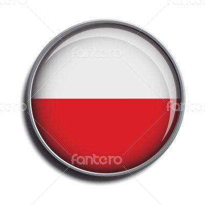 flag icon web button poland