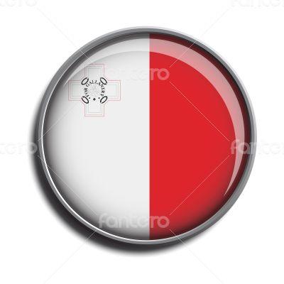 flag icon web button malta