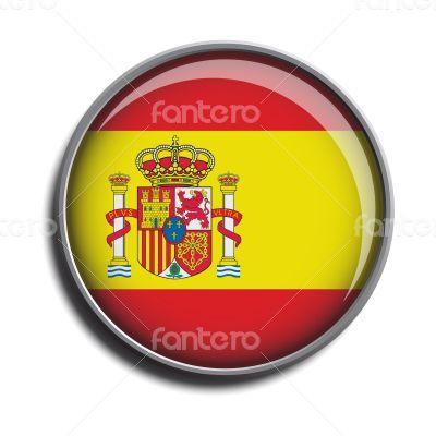flag icon web button spain