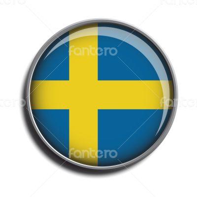 flag icon web button sweden