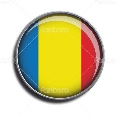 flag icon web button romania