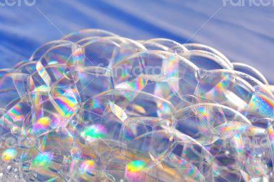 bright soap bubbles