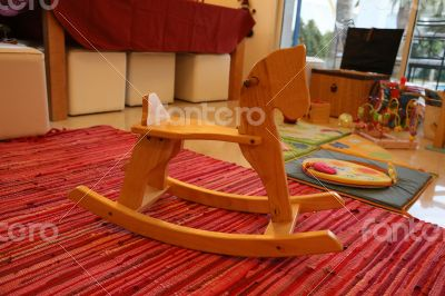 Wooden horse - rocking chair for small kids