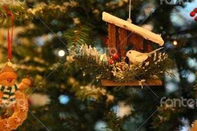 Christmas ornament hanging on the christmas tree