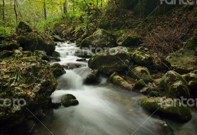 Small river cascade