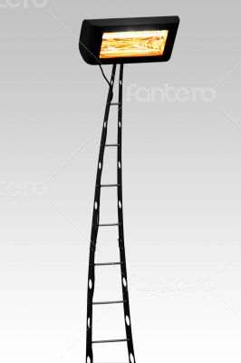 Floor lamp isolated