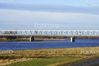 Railway bridge over the Elbe