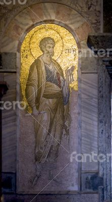 St. Peter mosaic in Chora church, Istanbul