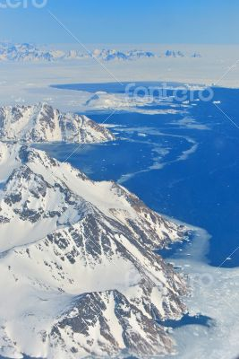Winter landscape - Panorama at north pole
