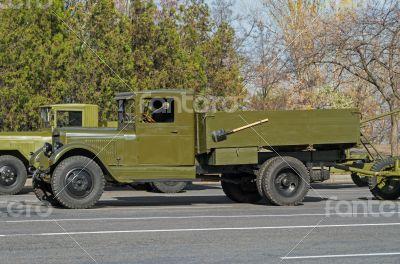 Retro military lorry