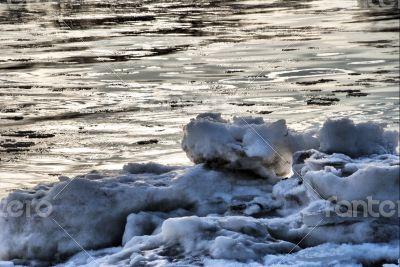 Elbe in Winter