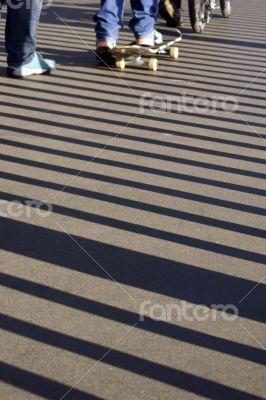Skateboard and sidewalk patterns