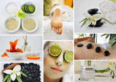 Spa Massage Facial Collage