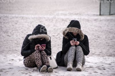 Young girls and Their smartphone