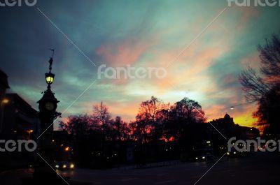Evening square