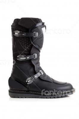 Biker MX boot isolated