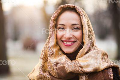 Business woman wearing headscarf