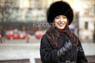 Positive winter girl