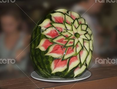 Watermelon , beautifully decorated