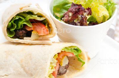 kafta shawarma chicken pita wrap roll sandwich
