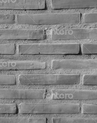 Brick-encased wall - background