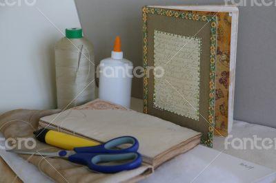 Handmade agenda with copric binding
