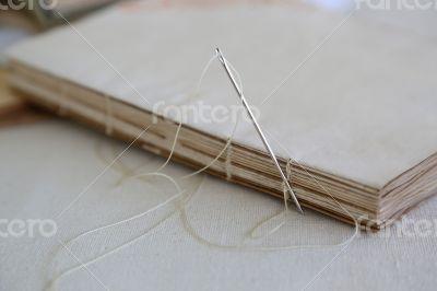 Coptic binding of handmade agenda