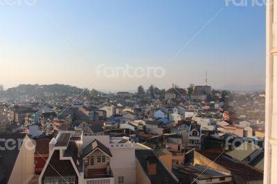 evening view of  Da lat town