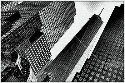 Noir Pop Art Skyscrapers, NY