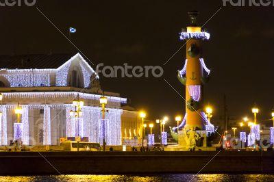 Night scenery of Sankt Petersburg