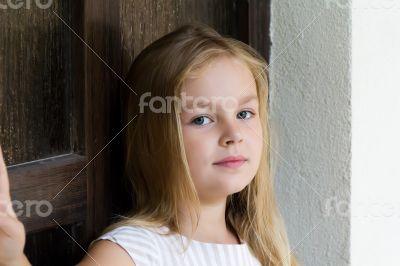 Cute girl five years old