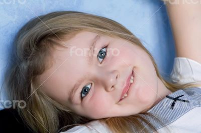 Cute girl five years old