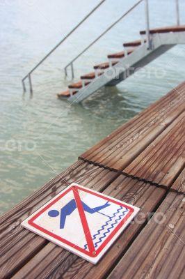 No Jumping Warning Sign