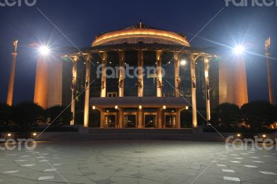 National Theater of Budapest at Night
