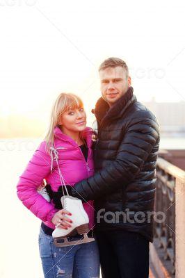 Figure skater girl and her boyfriend