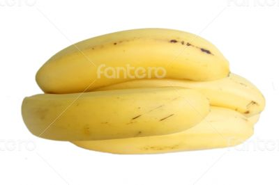 Bananas bunch laying isolated on the white background